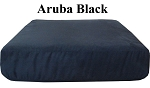 Aruba Black Sofa or Love Seat Replacement Cushion Cover