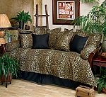 Leopard Daybed Cover Set