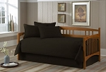 Solid Black Daybed Cover Set