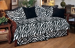 Zebra Black Daybed Cover Set