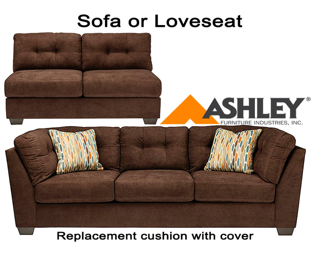 Ashley Delta City Chocolate Replacement Cushion Cover 1970238 Sofa Or 1970234 Love