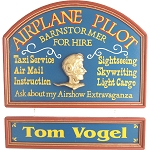 Personalized Airplane Pilot Custom Wood Sign