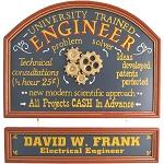 Personalized Engineer Custom Wood Sign