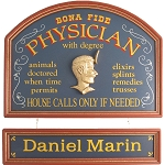 Personalized Physician Custom Wood Sign