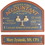 Personalized Accountant Custom Wood Sign