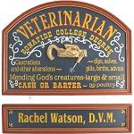 Personalized Veterinarian Custom Wood Sign