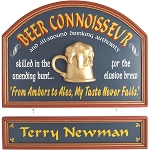 Personalized Beer Connoisseur Custom Wood Sign
