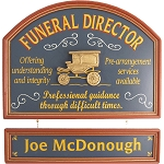 Personalized Funeral Director Custom Wood Sign