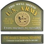 Personalized U.S. Army Custom Wood Sign