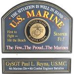 Personalized U.S. Marine Custom Wood Sign