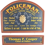 Personalized Policeman Custom Wood Sign