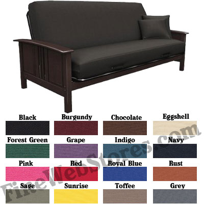 futon cover solid color cotton duck  rh   finewebstores