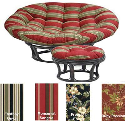 Outdoor Double Papasan Replacement Cushion Designer Print