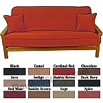Micro Suede Futon Cover Solid Color