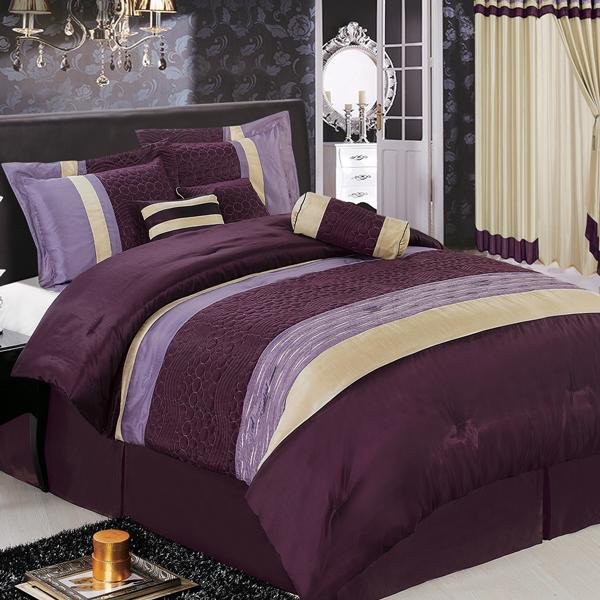 Sonata Purple 7 Piece Comforter Set