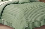 Olympic Queen Egyptian Cotton 320 Thread Count Sateen Stripe Bed Skirt