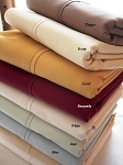 King Waterbed Size Unattached 300 Thread Count Egyptian Cotton Sheets Solid