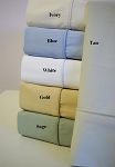 California King Size 400 Thread Count Bamboo Egyptian Cotton Sheets Solid