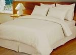 Ivory Damask Stripe 600 Thread Count Egyptian Cotton Down Alternative Comforter Set