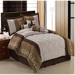 Port Creek 7 Piece Microsuede Comforter Set