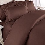 3 Piece Full/Queen Solid 300 Thread Count Egyptian Cotton Duvet Cover Set
