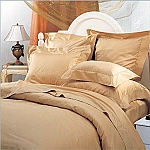 3 Piece Full/Queen Solid 300 Percale Thread Count Egyptian Cotton Duvet Cover Set