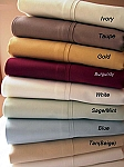 Twin XL Size 300 Thread Count Egyptian Cotton Sheets Solid