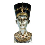 Queen Nefertiti Plaque, Silver And Gold