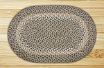 Oval Blue and Natural Jute Braided Earth Rug�