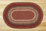Oval Burgundy Jute Braided Earth Rug�