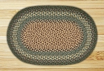 Oval Dark Green Braided Earth Rug�