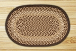 Oval Chocolate and Natural Jute Braided Earth Rug�