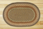 Oval Mustard and Ivory Braided Earth Rug�
