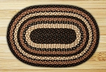 Oval Mocha and Frappuccino Jute Braided Earth Rug®