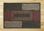 Rectangle Quilt Patch Black Sage and Ginger Jute Braided Earth Rug®
