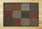 Rectangle Quilt Patch Black Sage and Ginger Jute Braided Earth Rug® 2