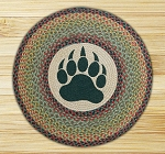 Round 27 Inch Print Patch Bear Paw Braided Earth Rug®