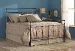 Winslow Bed Set With Frame Mahogany Gold