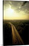 Los Angeles, California San Bernardino Freeway Panorama Picture