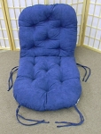 Swivel Rocker Papasan BLUE Microfiber Fabric Replacement Cushion