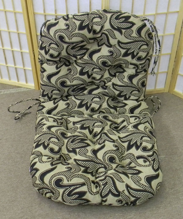 Swivel Rocker Papasan Replacement Cushion Jacquard Fabric As Shown