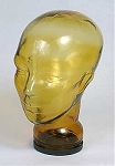 Glass Mannequin Head Amber