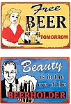 The Beauty of Beers Metal Signs Set of 2