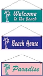 Vintage Beach Metal Signs Set of 3