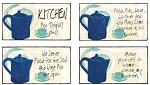 Kitchen Kapers Wood Signs Set of 4