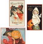 Halloween Vintage Metal Signs Set of 3