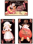 Vintage Happy Thanksgiving Metal Signs Set of 3