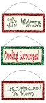Christmas Suggestion Signs Set of 3