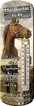 Horse Decorative Outdoor Thermometer