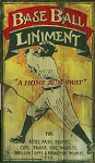 Baseball Liniment Antiqued Wood Sign